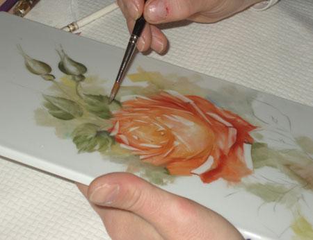 Pittura Su Piastrelle Di Ceramica : Lesclusivo paola gallinatto ceramiche porcellane pittura su