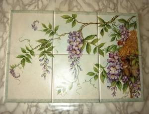 L 39 esclusivo paola gallinatto ceramiche porcellane pittura su ceramica pittura su porcellana - Pittura per piastrelle bagno ...
